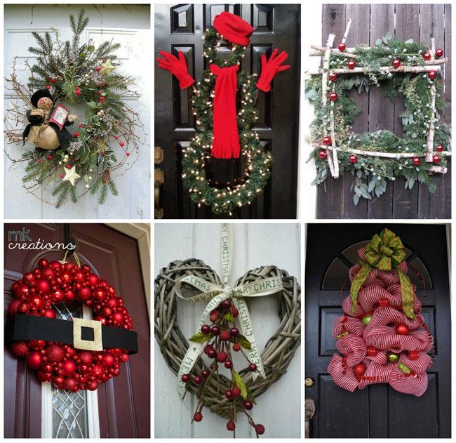 50+ idėjų kaip gali atrodyti kalėdinis vainikas